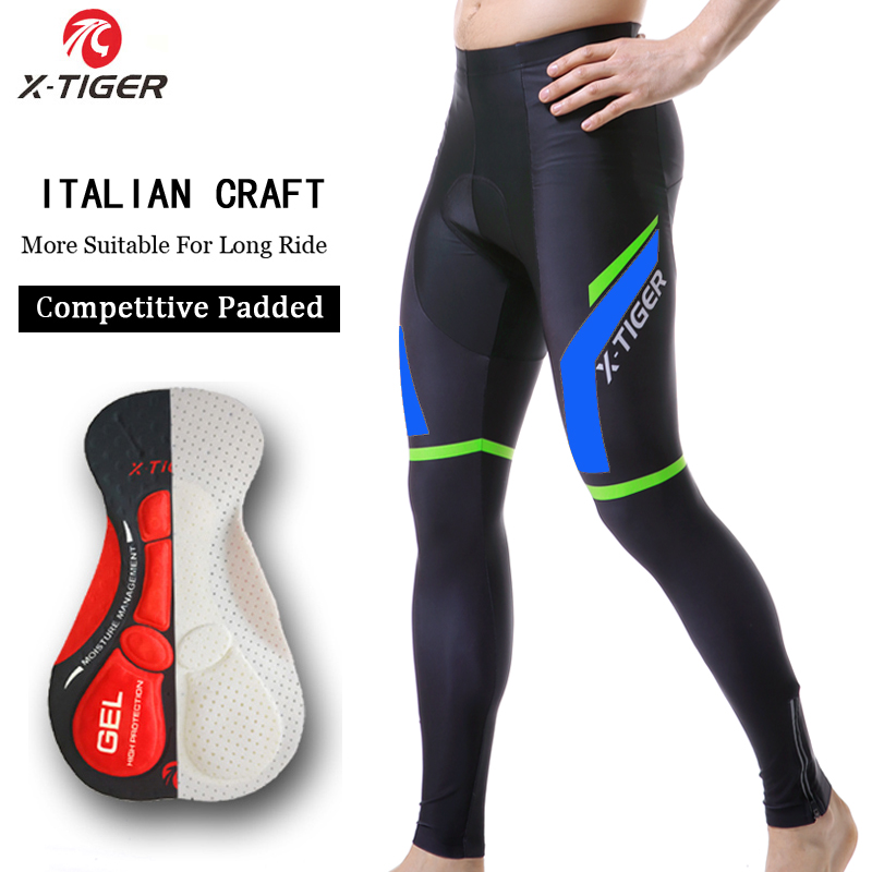 X-TIGER 2019 Spring 5D Pad Breathable MTB Bike Trousers Mountain Bicycle Tights MTB Ciclismo Pantalones Cycling Pants For Man