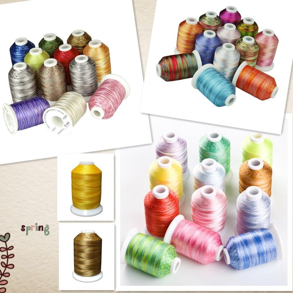 Simthread 38 기계/손 재봉을위한 잡색의 자수 실 모든 가정용 기계에 압착하는 누적 퀼팅 손 재봉-에서바느질 실부터 홈 & 가든 의  그룹 1