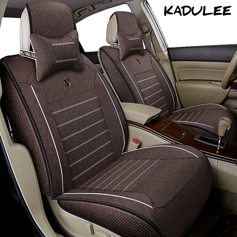 KADULEE flax car seat cover for kia ceed rio 3 4 soul spectra cerato niro sportage 3 4 2018 rio k2 Auto accessories car-styling kalaisike leather universal car seat covers for kia all models ceed rio sportage sorento optima cerato k2 k3 k4 k5 car styling