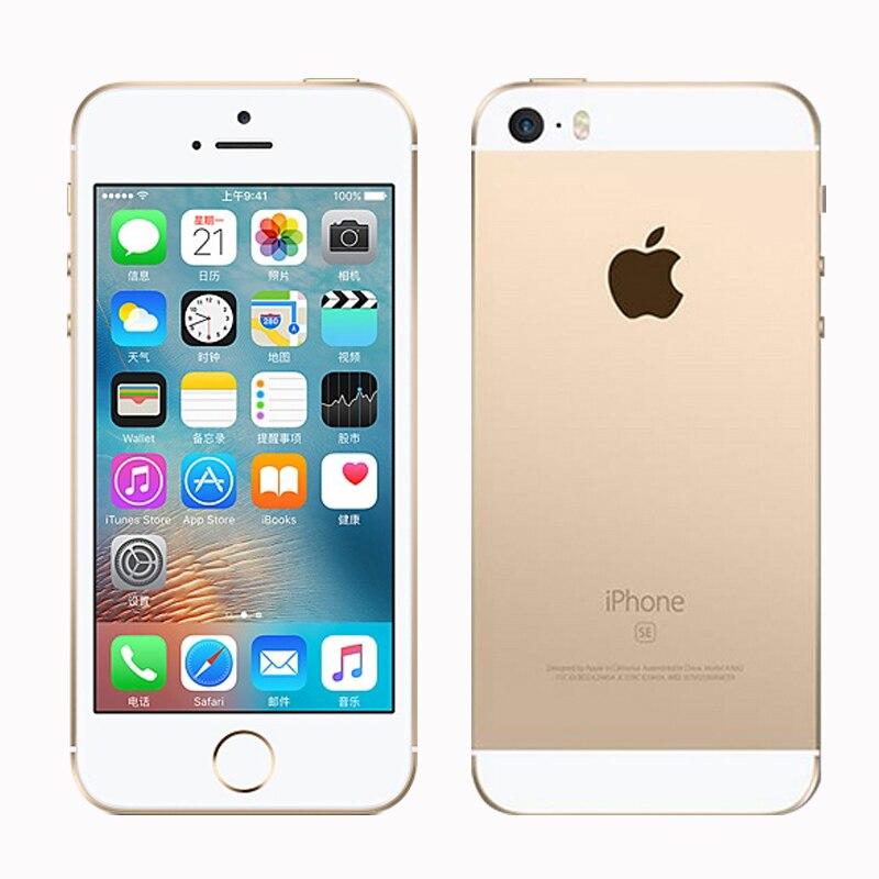 Original Débloqué Apple iphone SE Téléphone Portable 4G LTE 4.0» 2 GO RAM 16/64 GO ROM A9 Dual-core Touch ID Téléphone Portable Utilisé iphone se - 4