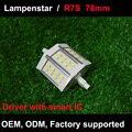 Levou r7s 78mm 5 W 10 W 15 W lâmpada 5730SMD 110 V/220 V AC85-265V ce rohs