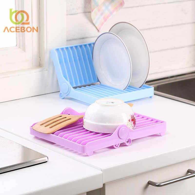 Kuchnia składana danie stojak uchwyt miska płyta taca na zastawę zastawa stołowa przechowywania suszarka do statywu d narzędzia