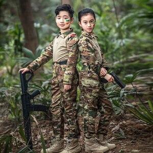 Image 1 - Mege uniforme militar para niños, traje de combate multicámara de las Fuerzas Especiales del Ejército, Multicam, Airsoft, equipo de Paintball CS