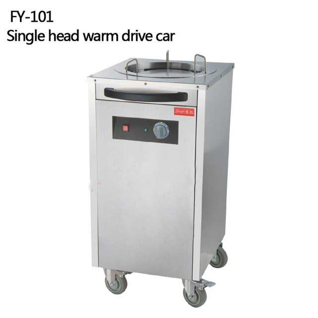 single head stainless steel electric plate warmer cart commercial hotel insulation plate