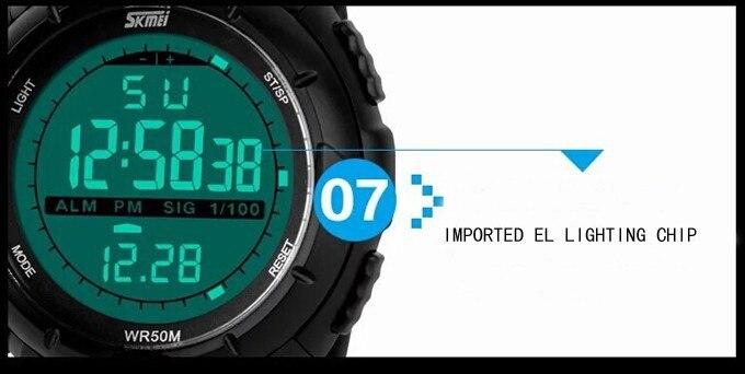 18 New Skmei Brand Men LED Digital Military Watch, 50M Dive Swim Dress Sports Watches Fashion Outdoor Wristwatches 22
