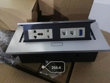Buy conference table wiring and get free shipping on aliexpress zdtoem multifunctional desk conference table pop up desktop socket wire box three two keyboard keysfo Image collections