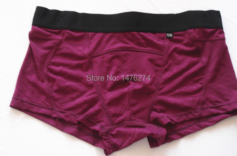 Men's underwear boxers red color printing Plaid good touch haveS/M/L/XL size real picture