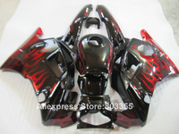 Fit for HONDA CBR600 F2 1994 1993 1992 1991 Top selling Fairings cbr 600 ( Red flames ) fairing kit 91 92 93 94 year xl90