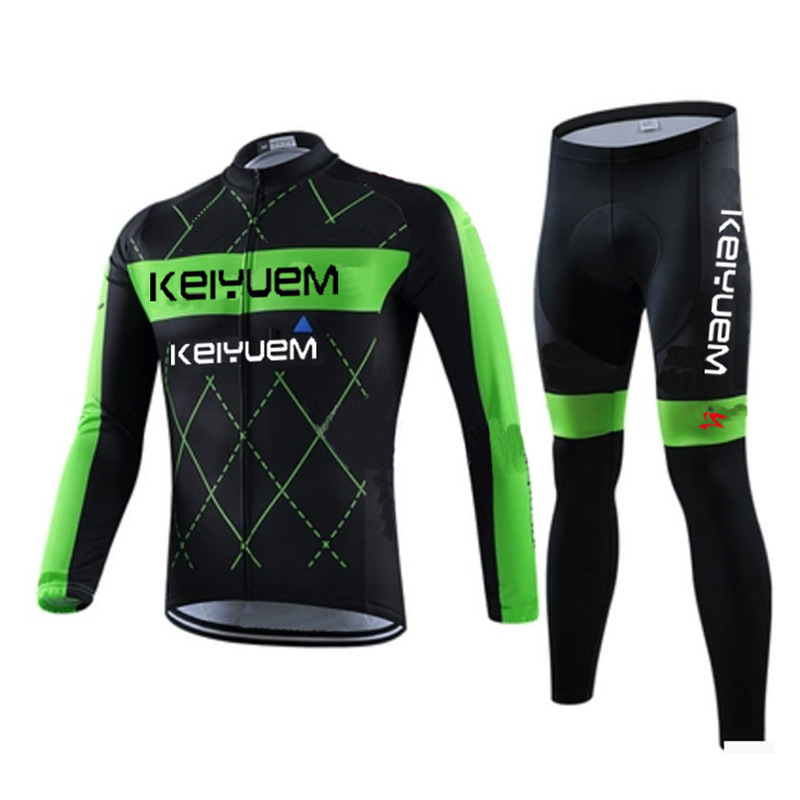 2016 New Cycling Jersey Men's Cycling MTB Long Sleeves Jersey Bike Bicycle Sets Shirts Padded Cycling Short Wear Uniforms basecamp cycling jersey long sleeves sets spring bike wear breathable bicycle clothing riding outdoor sports sponge 3d padded
