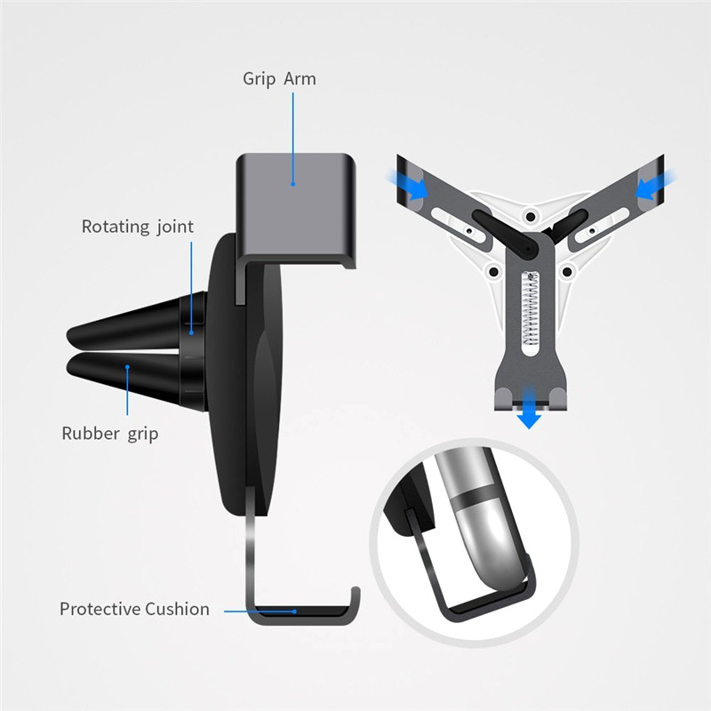 Image 4 - Gravity Bracket Car Phone Holder Flexible Universal Car Gravity Holder Support Mobile Phone Stand For iPhone Xr Xs Max Samsung-in Phone Holders & Stands from Cellphones & Telecommunications