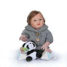 Boneca renacer muñeca de 20 pulgadas 50 cm suave de silicona renacer muñecas del bebé com corpo a corpo de silicona niño bebes reborn muñeca regalos l o l