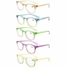 R144 Mix Eyekepper 5 Pack Fashion Readers Womens Reading Glasses (One for each color)  +0.50----+4.00