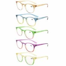 R144 Mix Eyekepper 5 Pack moda czytelników damskie okulary do czytania (po jednym dla każdego kolor) + 0 50 #8212 - + 4 00 tanie tanio 4 6cm R144-Mix-5pcs 3 9cm Kobiety Unisex Akrylowe Jasne Z tworzywa sztucznego Gradient