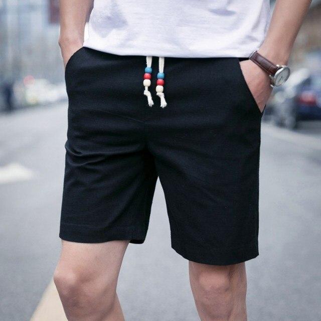 bad769ee4b0bd 2017 Verão Moda Casual Shorts Homens Moda Praia Branco Preto Shorts Plus  Size curto Para