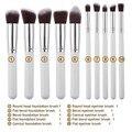 10 Pçs/set Professional Make Up Brushes Makeup Brushes Clássico Preto Fosco Maquiagem Jogo de Escova Maquiagem Beleza Ferramentas Acessórios