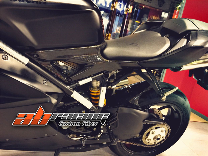 Tank Side Panel For Ducati 848 1098 1198  Full Carbon Fiber 100%  Twill
