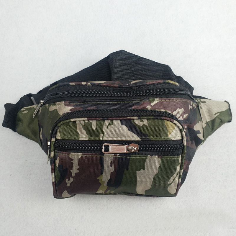Men Waist Packs Fitness Chest Bag Multifunction Canvas Mobile Phone Waist Bag Fashion Coin Purse  Camouflag Blte Waist Packs
