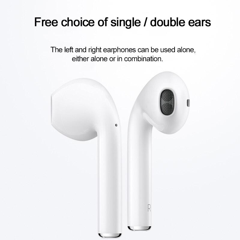 HOCO jumeaux écouteurs Mini 3D stéréo son Bluetooth écouteur vrai sans fil Sport écouteurs tactile contrôle écouteurs avec batterie externe - 4