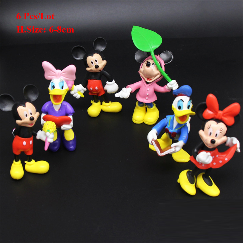minnie mickey birthday cake topper baby shower return gifts birthday party decorations kids baby children toys cupcake toppers