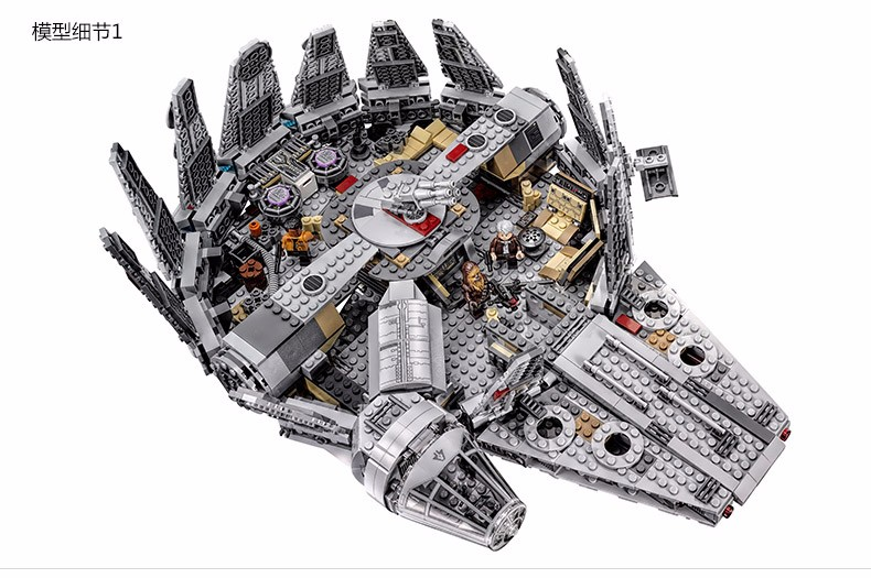 05007 Star Wars Millennium Falcon Figure Toys Model building blocks kits marvel Kids Toy Compatible with lego ynynoo star wars bb8 droid 3d bulbing light toys 2016 new 7 color changing visual illusion led lamp yoda millennium falcon toy