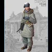1/16 resin figure soldier model kit World War II military officer gk hand to do white model war 124