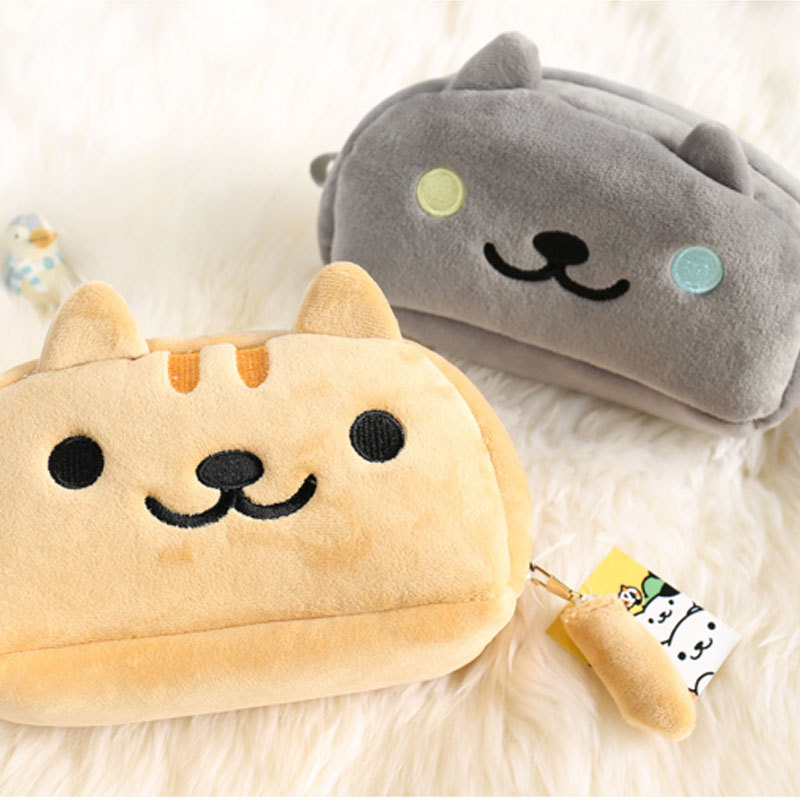 Big Capacity Cat pencil case Cute plush pen pouch box Storage bag stationery gift school supplies canetas gifts escolar korean big zipper pencil bag large capacity canvas pencil case school stationery pen storage box material escolar supplies