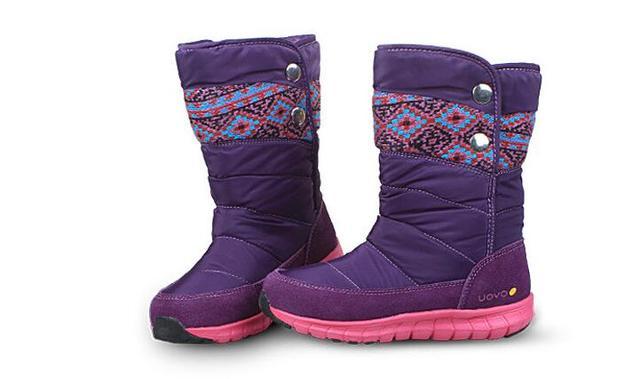 6b9b7552d Uovo Niñas invierno senderismo botas algodón zapatos para caminar  impermeable niños nieve zapatos calzado niños zapatos