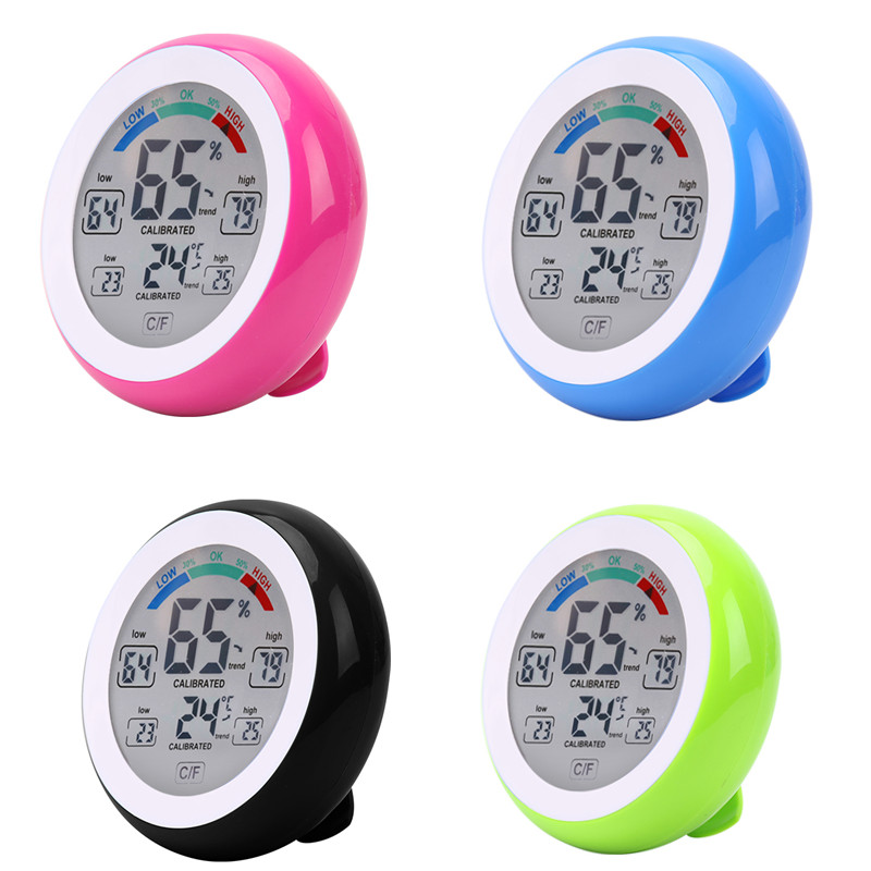 <font><b>Digital</b></font> <font><b>Thermometer</b></font> <font><b>Hygrometer</b></font>, Indoor Temperatur Feuchtigkeit Meter Detektor, Farbe LCD Touch Screen Elektronische <font><b>Thermometer</b></font> 40% off image