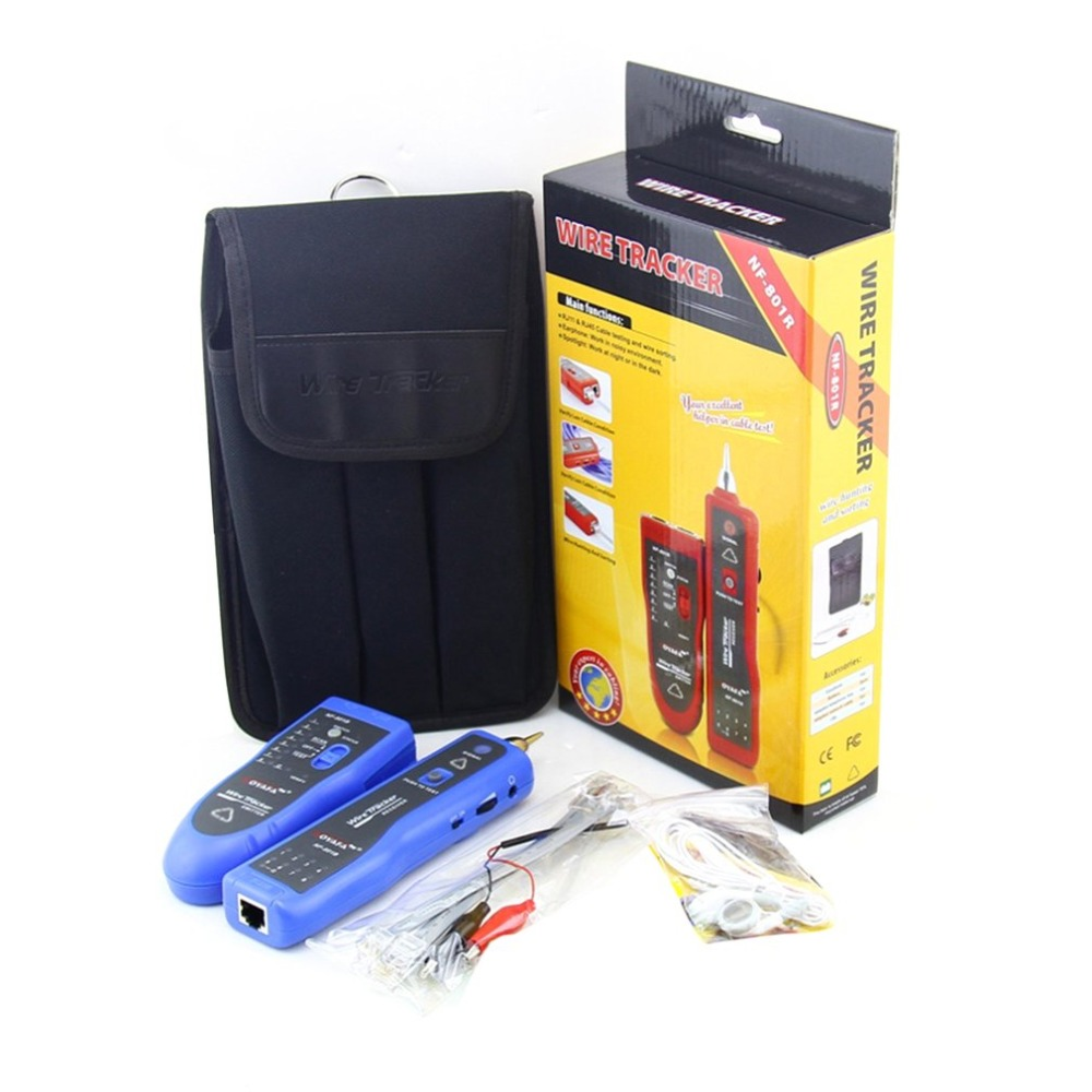 цена Noaya High & Low Voltage Cable Tester Underground Cable Finder Anti-Interference Wire Tracker RJ45 RJ11 BNC Tester NF-820 онлайн в 2017 году