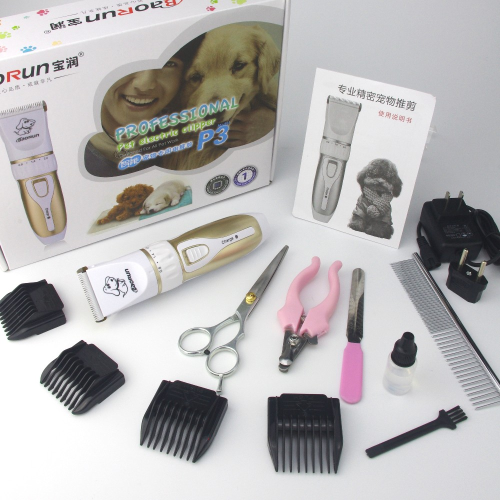 Rechargeable Low-noise Cat Dog Hair Trimmer Electrical Pet Hair Clipper Remover Cutter Grooming Pets Accessories Haircut 12