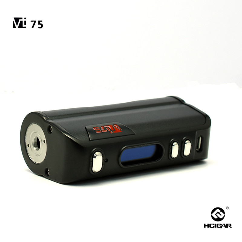 HCiagr  VT75  vape mod 75w TC box mod electronic Cigarette Vapor with OLED Screen with Evolv DNA75 chipset