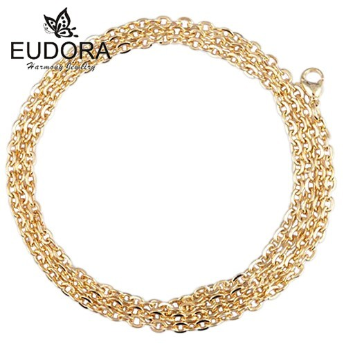 50PCS/Lot Hot Selling Gold Color Necklaces Pendant Angel Caller 30/ 45 Choker Necklace Easter Gift Wholesale Bola Chain