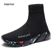 SWYIVY Men And Women Running Socks Shoes Weaving Breathable Light Unisex Sneakers 2018 Plus Size Sport