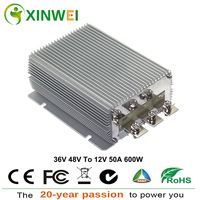 XINWEI DC36V 48V To DC12V 50A 600W Step Down Power Converter Aluminum Transformers Non isolated BUCK Waterproof rating IP68