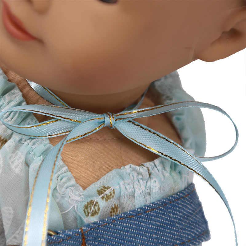 LUCKDOLL Quần Jean Dây Đeo Vai Có Thể Điều Chỉnh Dây Đeo Phù Hợp Với 18 Inch Mỹ 43cm BabyDoll Quần Áo Phụ Kiện, Cô Gái Đồ Chơi, thế hệ Tặng