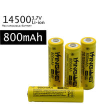 20 Count 14500 800Mah 3.7V Flat Head Li-Ion Lithium Rechargeable Battery with Welding Nickel Sheet Batteries for Power Bank