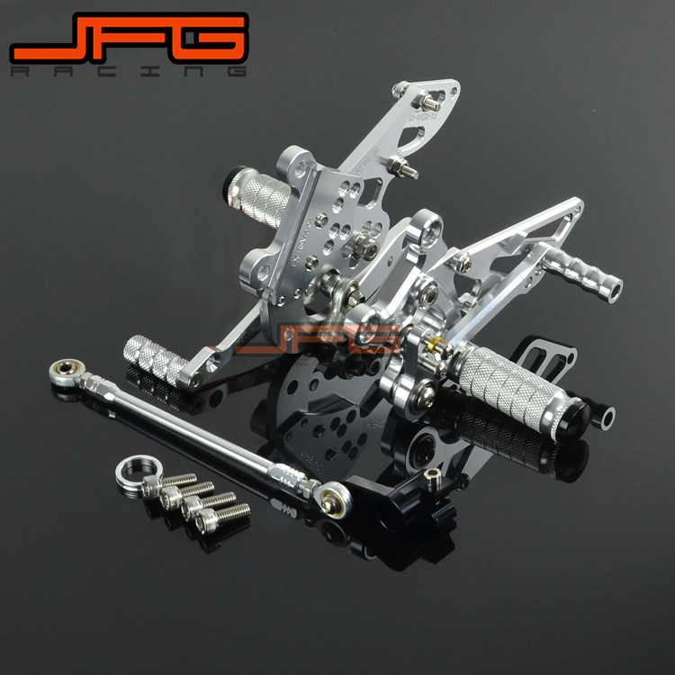 Motorcycle CNC Adjustable Foot Pegs Pedals Rest Rearset Footpegs For Aprilia RSV4 2009-2013 2009 2010 2011 2012 2013 mad moto high quality motorcycle chain adjuster with paddock bobbin fit for aprilia rsv4 2009 2010 2012 2013 2014 red black