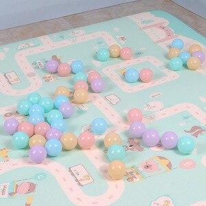 Image 2 - 50/100 Pcs palla colorata ecologica in plastica morbida palla oceano divertente bambino bambino nuoto Pit giocattolo piscina dacqua Ocean Wave Ball diametro 5.5cm