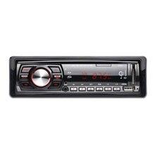 12 V Coche Reproductor de Audio Del Coche de Radio Auto Estéreo En el tablero Individual 1 Din FM Receptor Receptor de FM MP3 con Mando a distancia