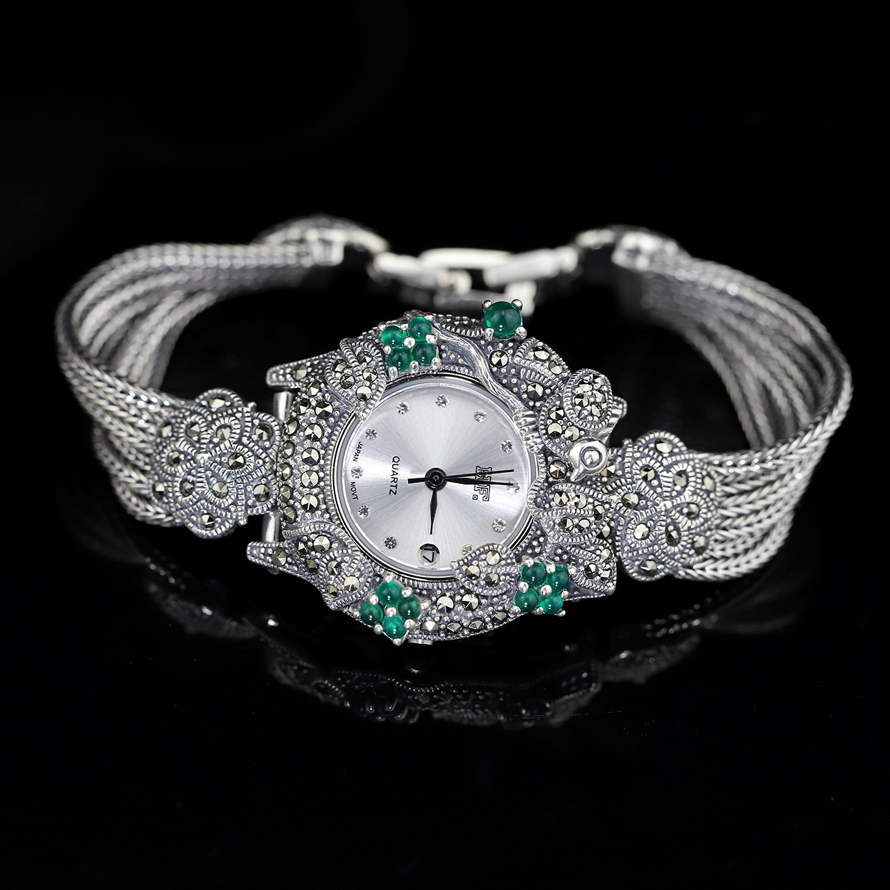 цена на jewelry S925 wholesale silver jewelry accessories wholesale factory direct selling Thai silver Seiko Bracelet Watch