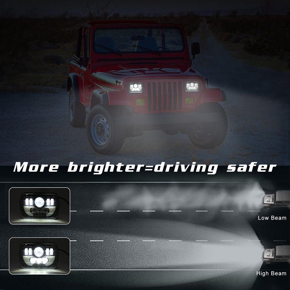 300 w 7 pouces carré conduit camion Van phares tout-terrain travail lumière lentille à quatre yeux