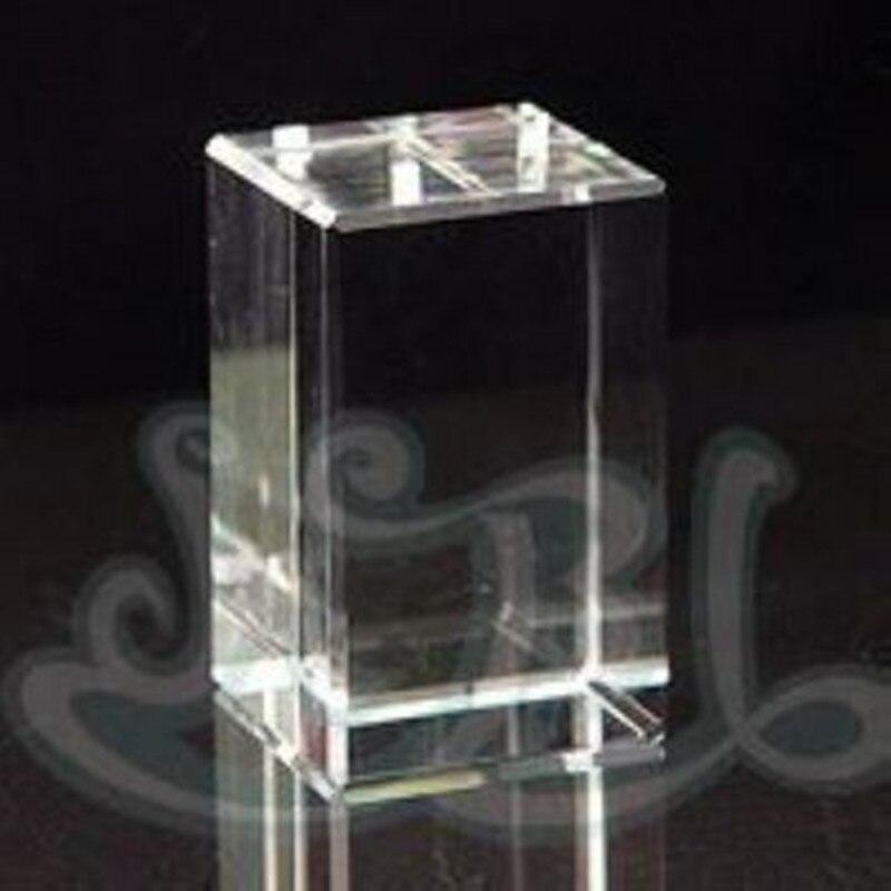 Venta al por mayor 10 piezas/50 piezas/100 piezas 40x40x60mm 50x50x50x80mm 60x60x90mm de tamaño de cristal Cubo de K9 en blanco de cristal bloque para 3d grabado láser-in Figuras y miniaturas from Hogar y Mascotas    1