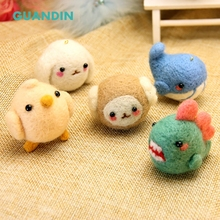 GuanDin,Little Monster Pokes Wool Felt DIY Home Decoration Ornaments Handmade Novice Basic Material Package 1PIece/Pack