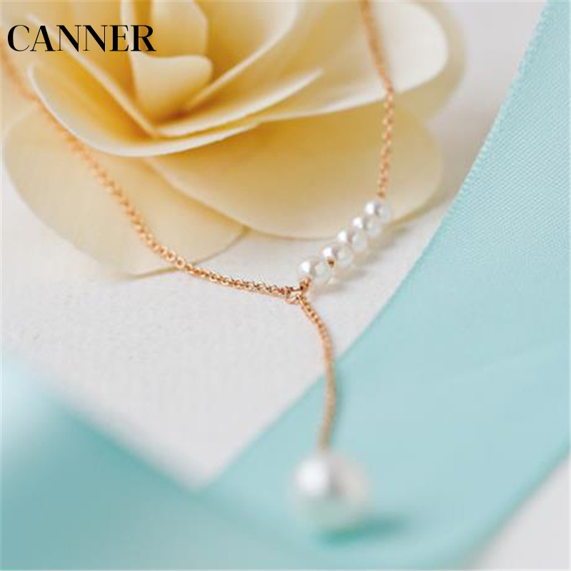 CANNER Romantic Pearl Thin chain reiki natural pendant necklace for women bijoux jewelry gift mother of pearl  Wholesale R4