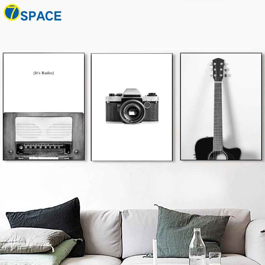 Camera Guitar Radio Canvas Painting Nordic Posters And Prints Wall Art Pictures For Living Room Home Decor