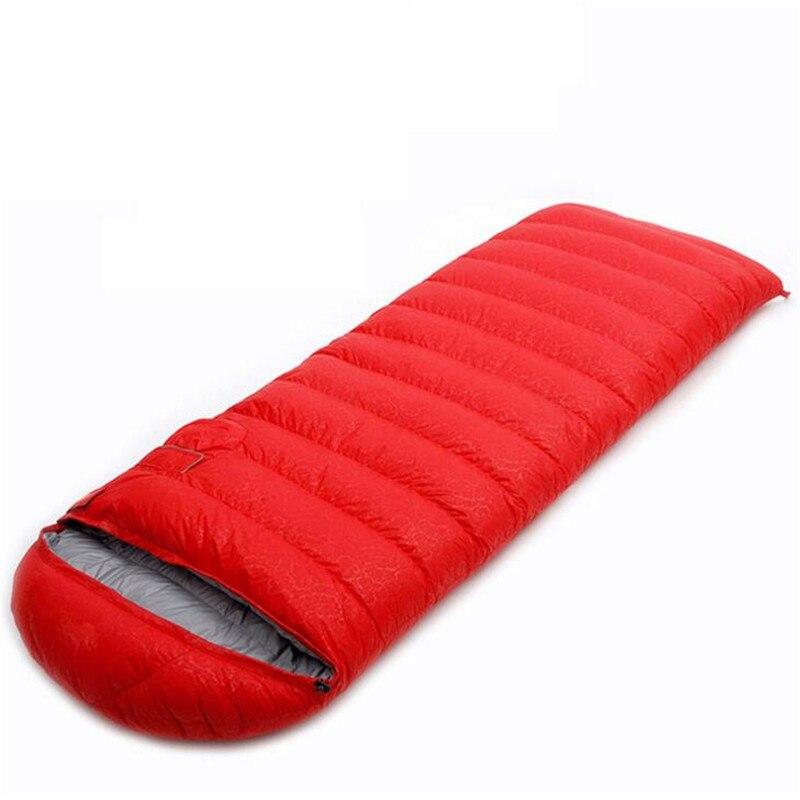 Adults' 3 Season Duck Down Splicing Sleeping Bags Outdoor Sports Thick Hiking Camping Climbing Warm Sleeping Bag S208 пена монтажная mastertex all season 750 pro всесезонная