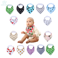 EGMAOBABY 12pcs Unisex Hot Baby Bandana Drool Adjustable Snaps Bibs For Drooling And Teething 100 Cotton