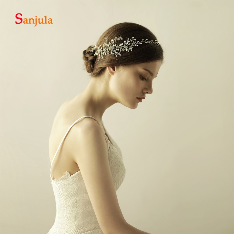 Sliver Headband for Bride Crystals Stunning Wedding Accessories Bridal Head Wear krone haarschmuck H94