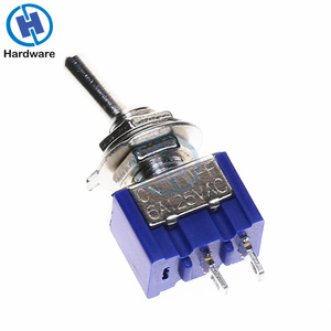 Image 2 - 10pcs MTS 101 2 Pin SPST ON OFF 2 Position 6A 250V AC Mini Toggle Switch