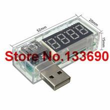 1 шт. цифровой USB мобильный мощность зарядки ток тестер напряжения метр мини USB зарядное устройство Доктор Вольтметр Амперметр